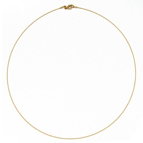 - 14k Yellow 0.5mm Twist Cable Wire Chain Necklace - 16 Inch - JewelryWeb
