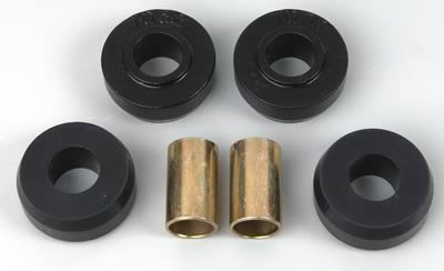 Energy Suspension 3.7102G Strut Rod Bushing Set; Black; Rear; Rod Eye OD 1.75 in.; Performance Polyurethane;