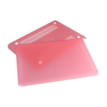 Carcasa Protector Transparente Rigida Para MAC Macbook White Rosa 13.3