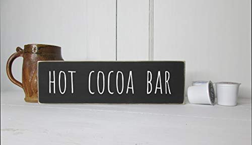 - rfy9u7 Hot Cocoa bar Sign - Rustic Coffee Sign