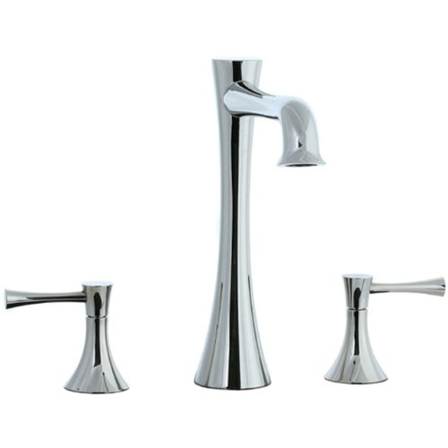 Cifial 245.650.721 Brookhaven Roman Bathtub Faucet with Crown Lever Handles, Polished - Brookhaven Tub