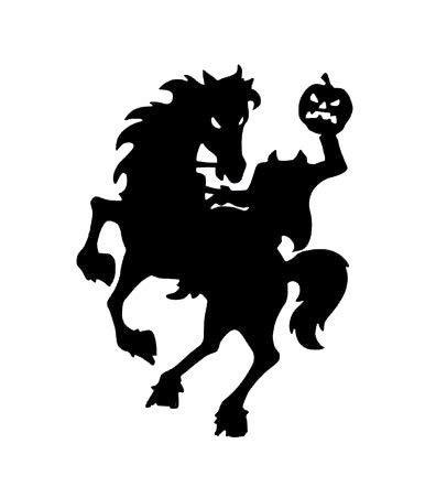 Moira Headless Horseman Vinyl Decal Halloween Vinyl Sticker Sleepy Hollow Decor Spooky Halloween Decoration Halloween Sleepy -