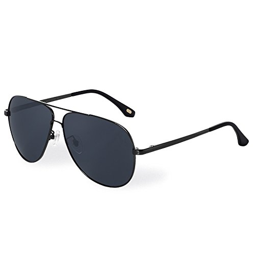 hombres de gafas Brown sesgada en sol de guía gafas de UV400 TL vuelve Aviador Sunglasses metal Steampunk gray sol wg5gFHnq4