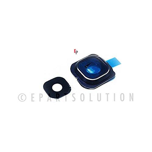 ePartSolution-Samsung Galaxy S6 Edge G925S G925V G925I G925F Camera Cover Lens Glass + Frame Holder Blue Replacement Part USA Seller