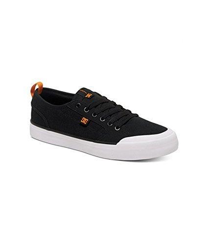 DC–Hombres Evan Smith S Low Top Zapatillas ( negro y naranja
