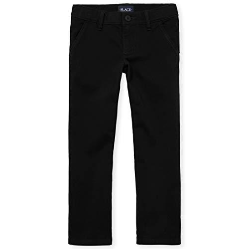 The Children's Place Girls' Little' Uniform Pants, Black 43302, 5