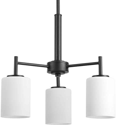 Progress Lighting P4318-31 Transitional Three Light Chandelier from Replay Collection in Black Finish