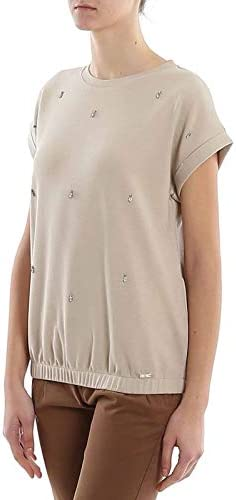 Fay t-Shirt Gioiello NPWB240675SRRBC003 Beige Donna