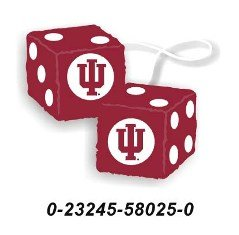 Indiana Hoosiers Fuzzy Dice *SALE*