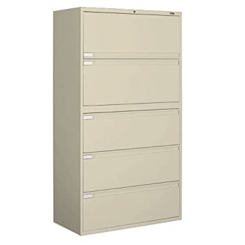 Amazon.com : Global Office 9300P 5 Drawer Lateral Metal File ...