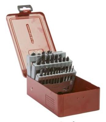 Forney 20476 HSS Fractional 135-Degree Split Point Screw Machine Drill Bit Set (29-Piece), Black