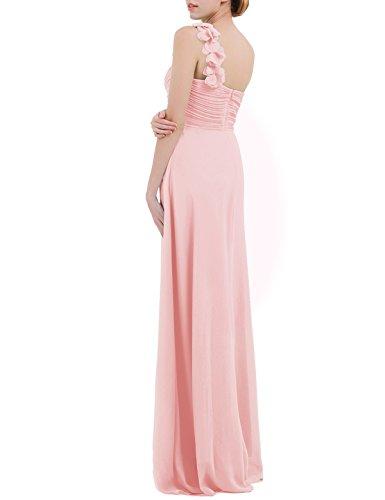 Espalda Fiesta Graduación de Perla sin Mujer Rosa Manga Cóctel Boda de Vestido Aire Freebily al Chica P5x8qZwX80