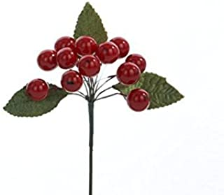 Christmas Flower Floral Single Small Red Berry cluster