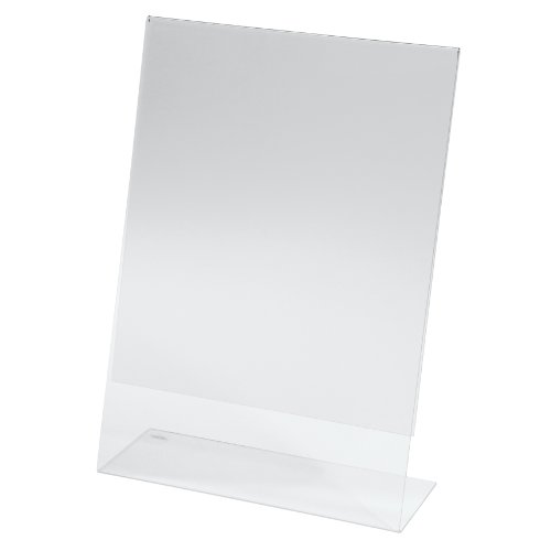 Sigel TA210 Table-Top Display Frame, slanted, clear, for A4