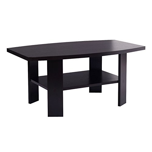 Coffee End Table Contemporary Living Room Furniture Wood Structure w/ Storage Shelf New (Halloween Drag Makeover)
