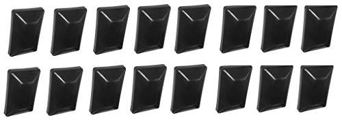 Fence Post Plastic Black Cap 4x6 (3 5/8