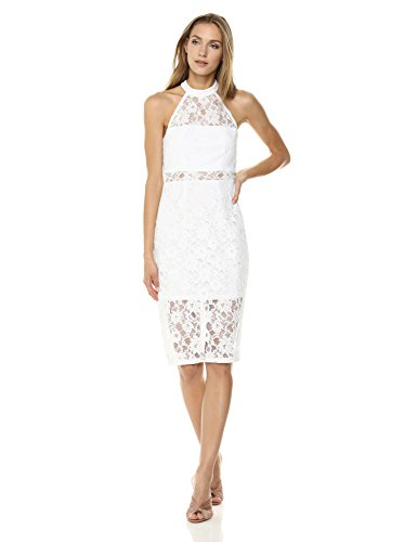 lace paneled bodycon dress - 2