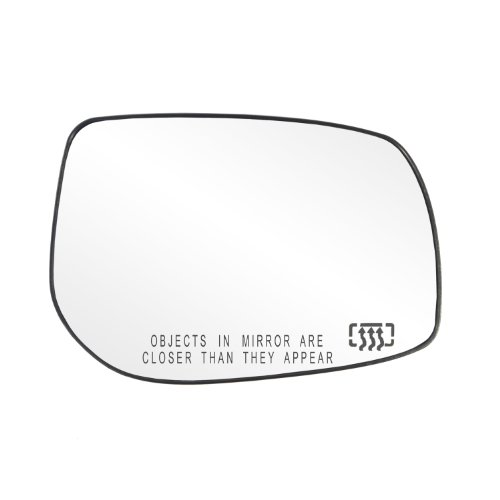 (Fit System 30226 Toyota Corolla/Matrix Right Side Heated Power Replacement Mirror Glass with Backing Plate)