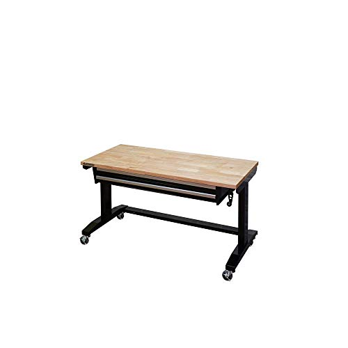 2 Workbench Drawer - 52 in. Adjustable Height Workbench Table with 2-Drawers