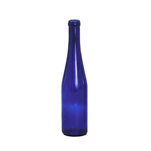 Hock Bottles - 375 ml Cobalt Blue Stretch Hock Bottles, 24 per case