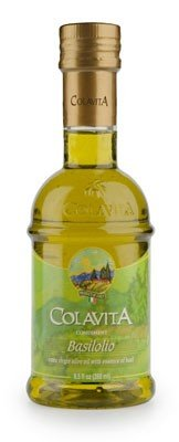 Colavita Basilio Extra Virgin Olive Oil with Basil - 8.5 oz (2 Pack) by Colavita