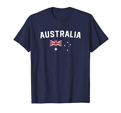 I Love Australia Minimalist Australian Flag T-Shirt