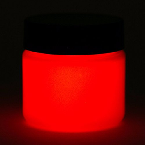 Art 'N Glow Artist's Acrylic Glow In The Dark Paint with Charging Light, 4 Fluid Ounces, Neutral Red]()