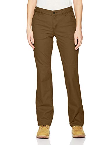 Carhartt Women's Original Fit Crawford Pant (Regular and Plus Sizes), Yukon, 8 (Outlets In Nc)