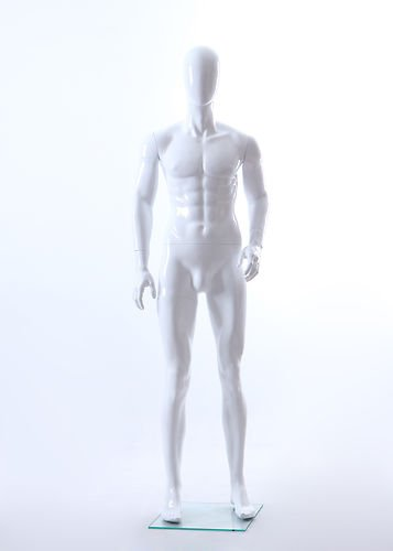 Fiberglass Mannequin (Brand New Male Full Body Fiberglass Abstract Egg Head Mannequin Glossy White (MIK6E))