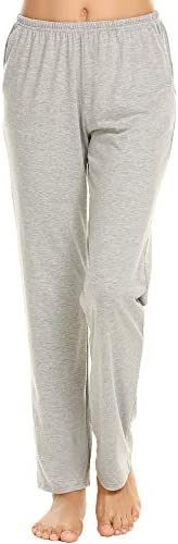 Ekouaer Pajama Pants Women's Casual Lounge Pants Soft Cotton Sleepwear Pj Bottoms S