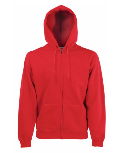 Fruit of the Loom Classic Hooded Sweat Jacket Rot,M