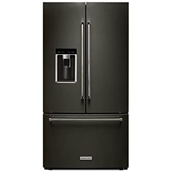 KitchenAid 23.8 Cu. Ft. Black Stainless Steel Counter Depth French Door  Refrigerator