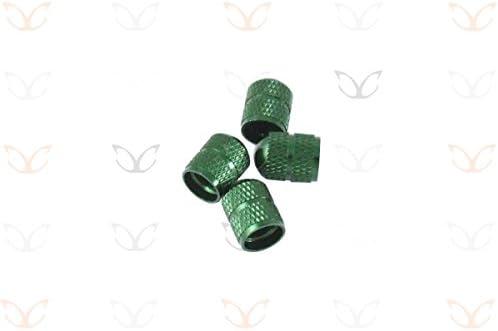 4ピースの選択肢の10色のエキゾチック陽極酸化合金シュレーダーバルブキャップ