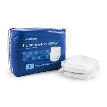 mck78363101 – Adulto Ropa interior absorbente MCKESSON Regular Pull On grande desechables moderada absorbencia