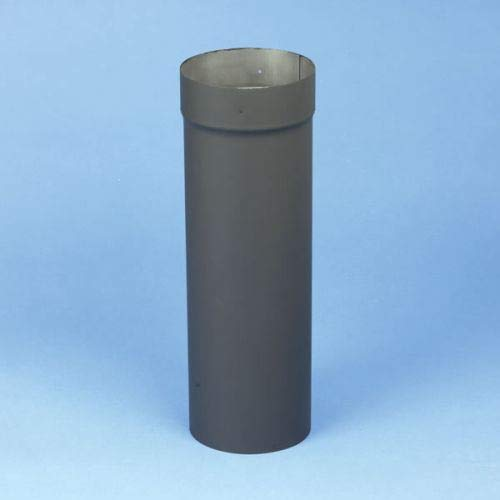 Chimney 21170 6 x 18 Inch Heat-fab 22-ga Welded Black Stovepipe Slip Connector Adjusts 4 Inch To 16 Inch ()