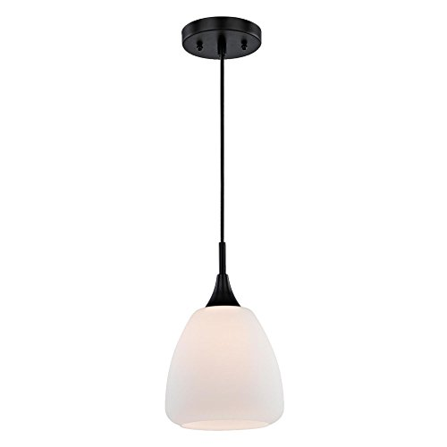 Black And White Glass Pendant Light