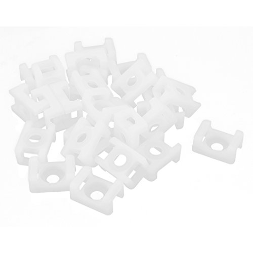 uxcell 26pcs 9.3mm Cable Tie Mount Base Saddle Type Wire Holder White