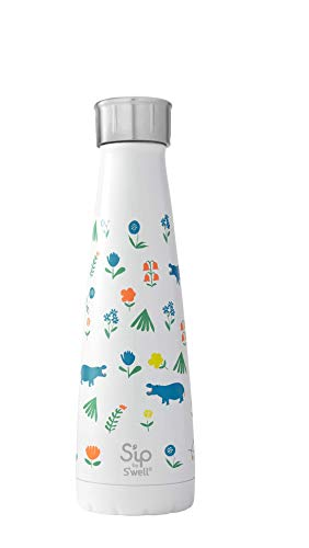 - S'ip by S'well 20015-A19-13710 Water Bottle, 15oz, Happy Hippo