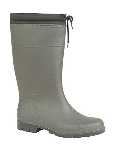 Mirak Ladies Vapour Tie Fastening Waterproof PVC Wellington Boot Green