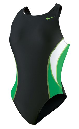 Nike Swim Team Color Block Power Back Tank,Green,20