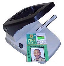 Stapler Style Slot/Round Hole Punch and Corner Rounder with - Brady Pvc Cards