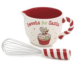 Adorable Christmas Mixing Bowl & Whisk Set Ceramic Sweets ...