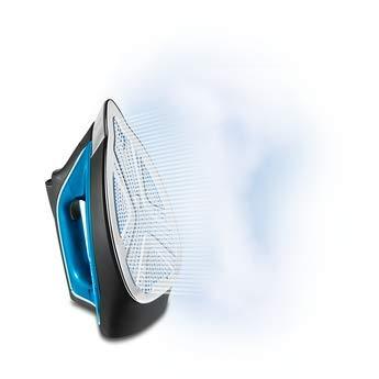 490 g//min Ricondizionato Rowenta DG9226 Ferro da Stiro a Caldaia Pro 2800W 7.6 bar Blu Microsteam 400 soleplate Nero