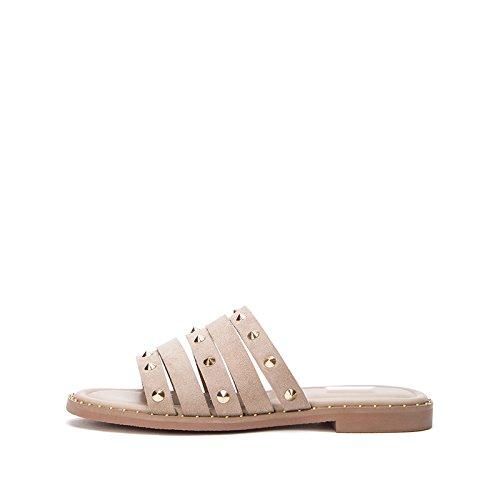 Sólido pulir Mujer Verano Punta 38 Sandalias Bajo Moda De Dhg Tacón Zapatillas Color gRfB8nwxw