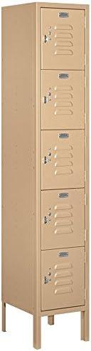 Amazon Com Salsbury Industries 65152tn U Five Tier Box Style 12 Inch Wide 5 Feet High 12 Inch Deep Unassembled Standard Metal Locker Tan Brown Home Improvement