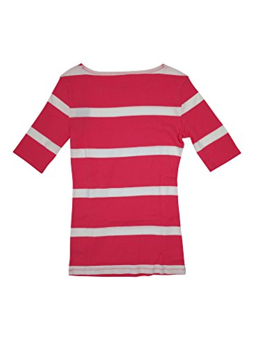 Sleeve Hilfiger Tommy 3/4 - Tommy Hilfiger Women's 3/4 Sleeve Striped T-Shirt (X-Small, Red/White)