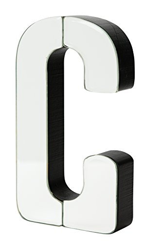 - Boston Warehouse 7-Inch Tall Mirrored Glass and Wood Decorative Letter, C