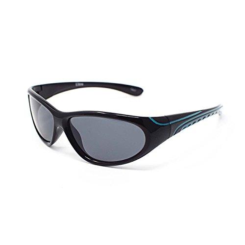 Childrens Kids Black and Blue Wraparound Sunglasses UV400 UVA UVB Protection - Eco Uk Sunglasses