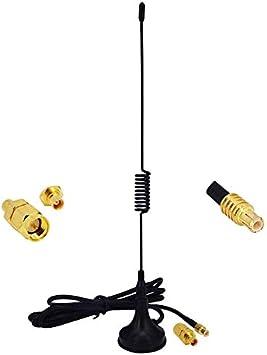 YILIANDUO 2,5 dBi 1090 MHz Antena MCX Conector recibe antena ADS-B con base magnética Cable RG174 1M + MCX Hembra a SMA Macho Adaptador Conector