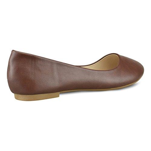 Classic Toe Ballerina Round Slip Standard Closed Premier Walking Women's on Toe Ballet Suede Flats Comfortable Chestnut Premier BFEIqB